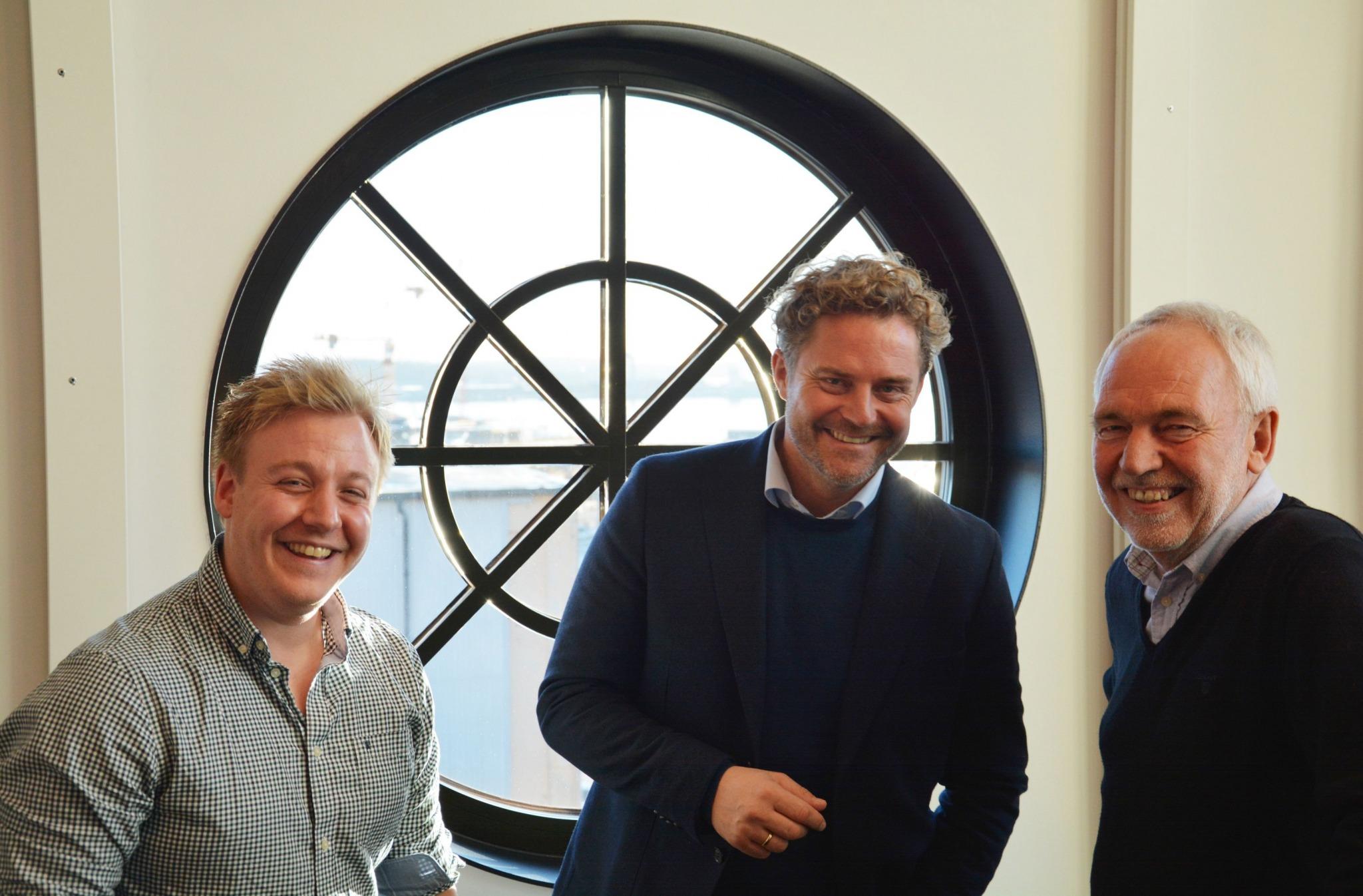Innovatører hos Abax; Kjetil Lassen, Bjørn Erik B. Helgeland og Tor Engebretsen.
